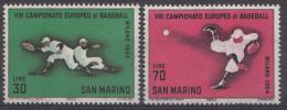 Saint-Marin Mi.nr.:824-825 Baseball-Europameisterschaft, Mailand 1964 Neuf Sans Charniere / Mnh / Postfris - Neufs
