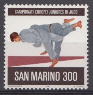 Saint-Marin Mi.nr.:1240 Judo-Europameisterschaften Der Junioren 1981 Neuf Sans Charniere / Mnh / Postfris - Neufs