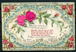 """CPA Color AK German Empires,DR 1903 Künstlerkarte,Siegelmarkendruck """"Rosen-Blümlein,seid Ihr Erst Mal Am Ziele"""" 1AK Bef. - Unclassified"""