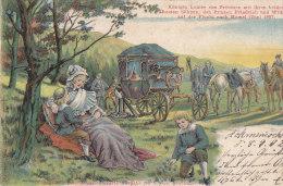Histoire / Familles Royales / Louise Von Preussen Juni 1807 / Attelage Diligence / Postal Mark Ackmenischken 1902 - Historia