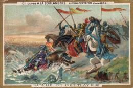 Thematiques 59 Nord  Chromo Cardon Duverger Sainte Olle Lez Cambrai Chicorée Extra A La Boulangére Bataille De Courtray - Chromos