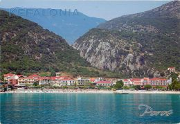 Poros, Cephalonia, Greece Postcard Used Posted To UK 201 Stamp - Greece