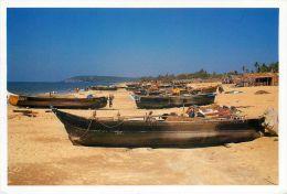 Candolim Beach, Goa, India Postcard Used Posted To UK 2005 Stamp - India