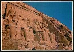 Abu Simbel, Egypt Postcard Used Posted To UK 1997 Stamp - Abu Simbel Temples
