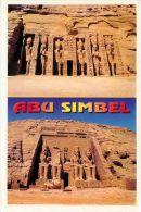 Abu Simbel, Egypt Postcard Used Posted To UK 2000s Stamp - Abu Simbel Temples