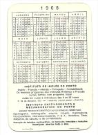 Portuguese 1968 Calendar - Instituto De Inglês Do Porto - Calendars