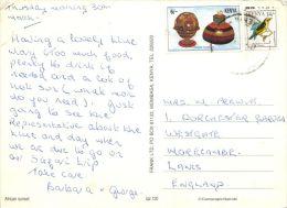 Sunset, Kenya Postcard Used Posted To UK 1990s Nice Stamp - Kenya