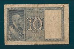 DITTATURA FASCISTA 10 LIRE  1938 XVII - [ 1] …-1946 : Koninkrijk