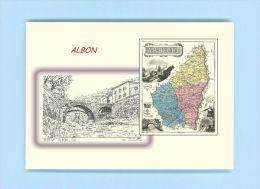 CP N 07190 - CARTE POSTALE DESSIN / Département - 07 ALBON - Non Classés