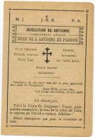 """IMAGE PIEUSE RELIGIEUSE DOUBLE Desclée De Brouwer Lille : """" Bref De Saint Antoine De Padoue """" BRIVE Le Père Chapelain - Andachtsbilder"""