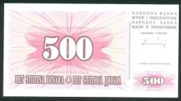 BOSNIA , 500 DINARA 1.8.1994. , UNC - Bosnië En Herzegovina