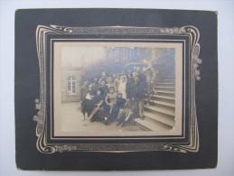 ANGERS, Maine Et Loire - Guerre 1914 - Photo  Contrecollée Sur Carton - Blessés Et Infirmière - Signatures Au Verso - Guerre, Militaire