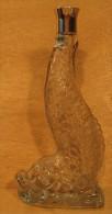 BOUTEILLE EN VERRE VIDE AVEC BOUCHON ( POISSON )FOURQUET 70° VALOY - Spiritueux