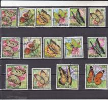 BURUNDI : Papillons : O : Y&T :270 à 284 - 1962-69: Usati