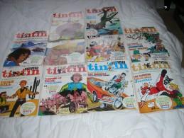 LOT DE DIX MAGAZINES NOUVEAU TINTIN  N° 41 A 50 - Paquete De Libros