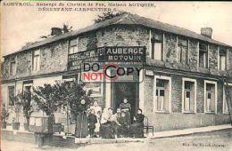 59 - Rare Carte Postale Louvroil   - Devanture Auberge Du Chemin De Fer - Maison Botquin  - ( Lire   Description ) - - Louvroil