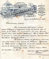 1899   VIENNA -  FABBRICA DI BOTTONI - Austria