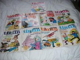 LOT DE NEUF MAGAZINES NOUVEAU TINTIN  N° 11 A 20 - Wholesale, Bulk Lots