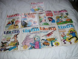 LOT DE NEUF MAGAZINES NOUVEAU TINTIN  N° 11 A 20 - Books, Magazines, Comics
