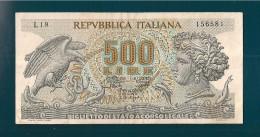 REPUBBLICA ITALIANA 500 LIRE ARETUSA 20 OTTOBRE 1967 - 500 Lire