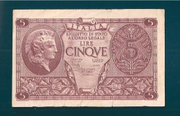 LUOGOTENENZA 5 LIRE ARETUSA 20 OTTOBRE 1967 - [ 1] …-1946 : Kingdom