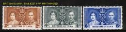 BRITISH GUIANA   Scott  # 227-9* VF MINT HINGED (REMNANT) - British Guiana (...-1966)
