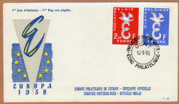 Enveloppe Cover Brief FDC 62 1064 1065 Europa - 1951-60