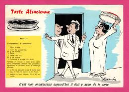 Carte Humour - Tarte Alsacienne - MARCEL VAYSSE - ALEXANDRE - Humor
