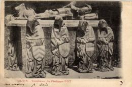 DIJON Tombeau De Philippe POT Carte écrite En 1903.Dos Simple.2scans - Dijon