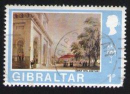 Gibraltar Oblitération Ronde Used Stamp Vue De La Ville Au Début Du Siècle Early 19th Century - Gibraltar