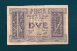DITTATURA FASCISTA  2 LIRE  14 - 11 - 1939 - [ 1] …-1946 : Koninkrijk