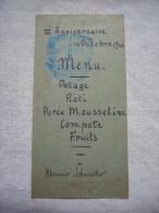 Menu De Scout ? Anniversaire 1944 Voir Tampon Mr Scheinder - Menus