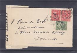 Grande Bretagne - Lettre De 1918 - Oblitération Cheltenham ?? -  Expédié Vers La France - Saint Adresse - Avec Censure - 1902-1951 (Kings)