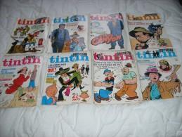 LOT DE HUIT MAGAZINES NOUVEAU TINTIN  N° 2 A 10 - Books, Magazines, Comics