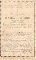 Bidprentje - Marie De Bus - Ongena - Lokeren 1858-1896 - Vieux Papiers