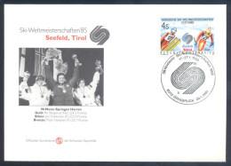 Switzerland Nordic Skiing World Championship 1985 Seefeld; Ski Jumping 90 M Champions: Berglund, Puikkonen Nykänen - Ski