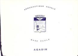 CARTE VOEUX AGADIR BASE ECOLE AERONAUTIQUE NAVALE MARINE AVIATION MAROC
