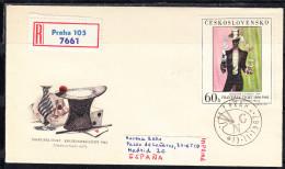 CHECOSLOVAQUIA 1967. FDC.SOBRE 1er. DIA.FRANTISEK TICHY  CN 1921 - Arte