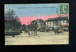 Cpa Rennes N° 50 La Place Et L Avenue De La Gare  M. Le Roy   Animée Tramway - Rennes