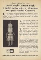 # CHAMPION SPARK PLUG 1950s Car Italy Advert Pub Reklame Bujìas Candele Zundkerze Bougie - Transportation