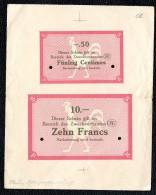 A Identifier -Inédit?  Essai De Necessité Allemand 1914-18 Pour La France, Belgique Ou Sarre ? - Bonds & Basic Needs