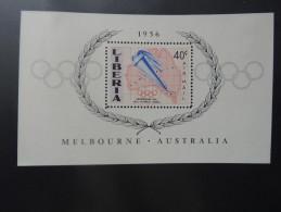 BLOC FEUILLET LIBERIA J.O. MELBOURNE 1956 - Sommer 1956: Melbourne