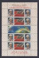 GUINEE. Atterrissage De Luna X Sur La Lune. Feuillet N°8 Avec Surcharge Rouge - Guinée (1958-...)