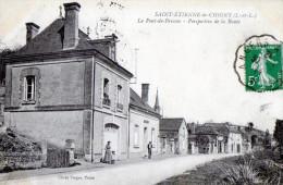 Saint Etienne De Chigny - Le Pont De Bresme - Perspective De La Route. - France