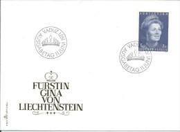 ZLIECHTENSTEIN - FDC Premier Jour De 1971 - Michel N° 544 - FÜRSTIN GINA VON LIECHTENSTEIN - FDC