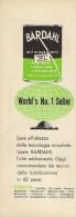 # BARDAHL  MOTOR OIL1950s Car Italy Advert Pub Reklame Olio Huile Moteur Aceite Motorol Grease - Transportation