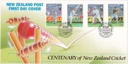 New Zealand 1994 Cricket Centenary FDC - FDC