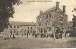 Pontorson (50) - Ecole De Filles - Animée - Pontorson