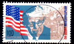 GERMANY 1997 50th Anniv Of Marshall Plan (European Recovery Program) - 100pf  United States Flag, George Marshall    FU - Usados