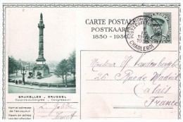 Entier Postal  Charleroi  Belgique   Carte Postale  Postkaart 1830 1930 Exposition Philatelique  Caroloregienne - Cartes-lettres